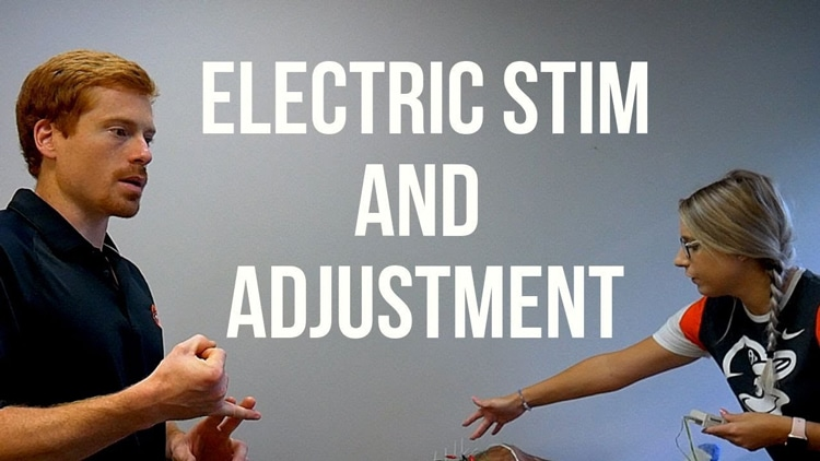 Electrim Stim and Adjustment at Kalkstein Chiropractic in Towson MD